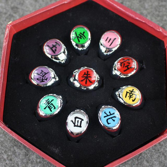 10Pcs NARUTO COSPLAY Member Ring