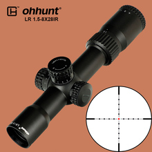 ohhunt Hunting LR 1.5-8X28 IR Compact Scope Mil Dot Red Illumination Optical Sights Glass Etched Reticle Tactical Riflescope цена в Москве и Питере