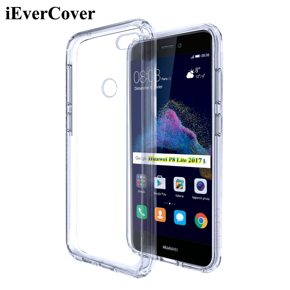 buy for huawei p8 lite 2017 case premium clear tpu gel skin for huawei p8. Black Bedroom Furniture Sets. Home Design Ideas