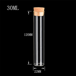 Image 5 - Bouteilles claires transparentes vides de 22*120mm 30ml avec des flacons en verre de bouchon de liège pots bouteilles de stockage pots de Tube à essai 50 pcs/lot