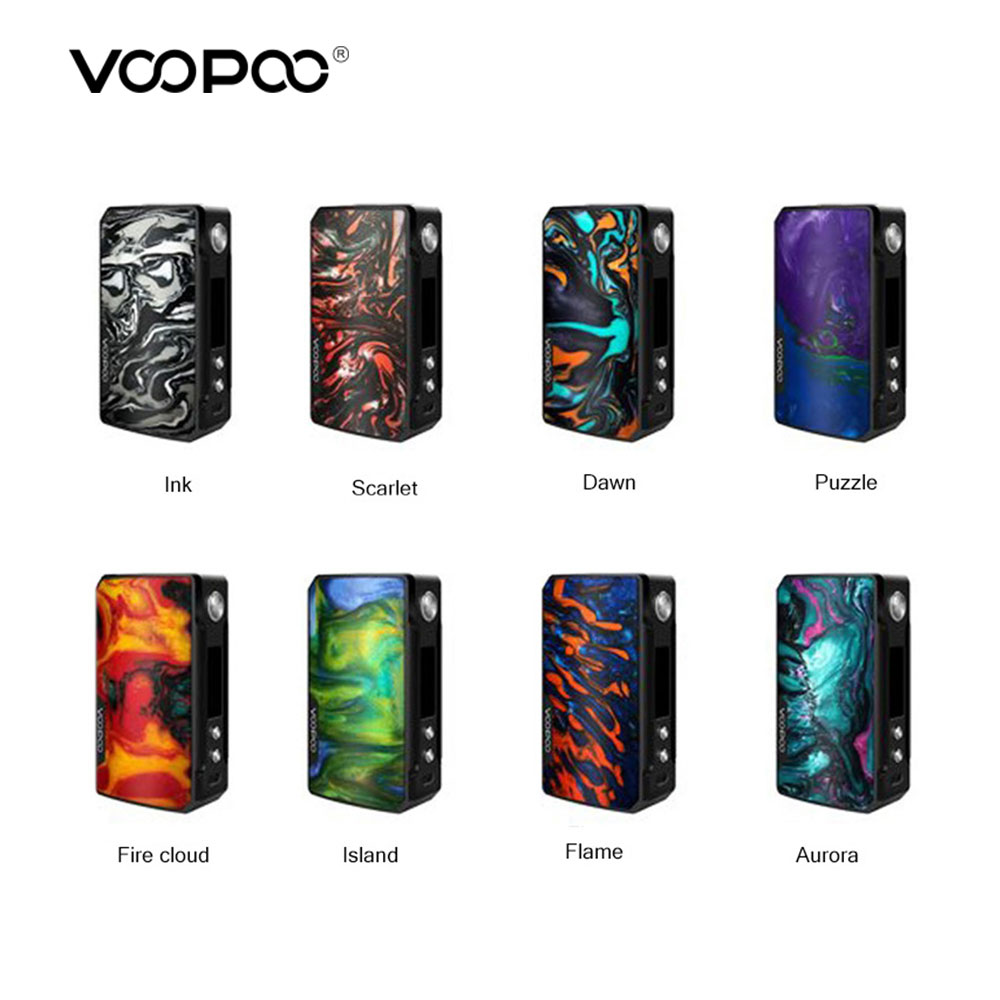 Original VOOPOO DRAG 2 Box Mod Power By 18650 Battery Electronic Cigarette Vape Mod Voopoo box