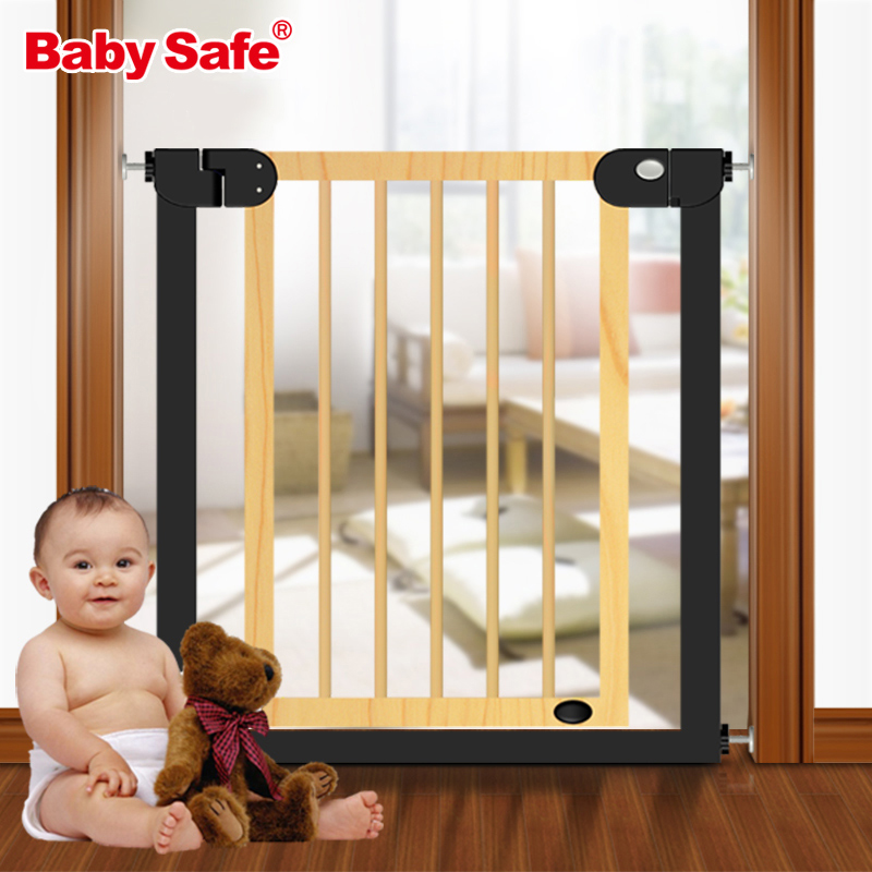 gate for stairs - Baby safe gate stair gate Door Stop Baby Gate 76~83cm Wood Safety Gate Children Security Baby Fences Pet Stairs Fence