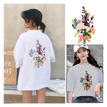 Fashion wild Peony embroidery large flower cloth stickers clothing T-shirt skirt diy models hole repair Ding stickers decoration детские ткацкие станки аксессуары ding ding tong diy