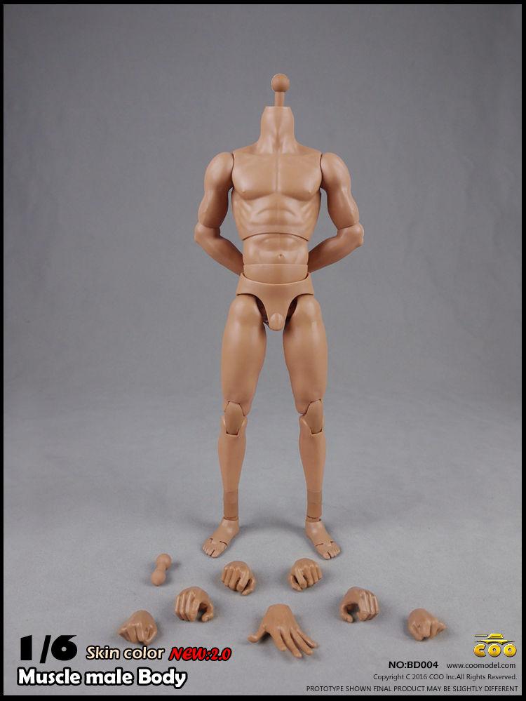 BD004 Широкий Плечо Мужчины 1/6 Шкала Фигурку Модель Игрушки Мускулистые мужские Тела 2.0 Модели Около 27 см Коллекции
