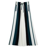 Pantalones rayas verticales cintura alta bota ancha 4
