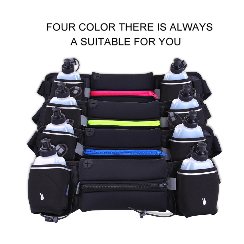 Running Waist Pack Outdoor Sports Hiking Racing Gym Fitness Lightweight Hydration Belt Water Bottle Hip Bag