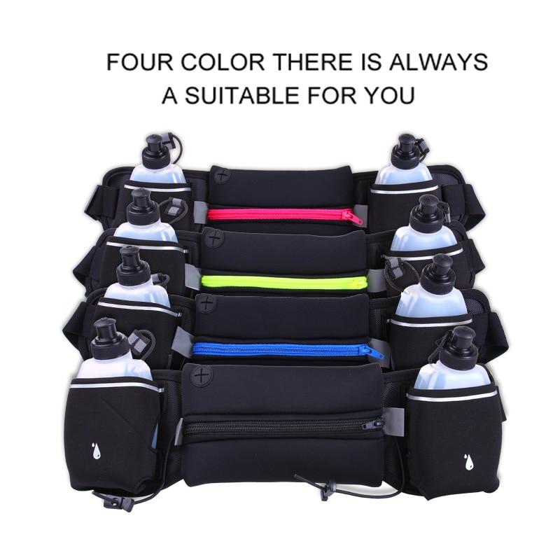 Running Waist Pack Outdoor Sports Hiking Racing Gym Fitness Lightweight Hydration Belt Water Bottle Hip Bag