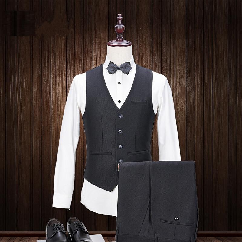 Brand Tailor Made Mens Suit 3 Pieces(Jacket+Pants+Vest) Black Blazer Slim Work Prom Suits Male Tuxedo Dress Suit Sale
