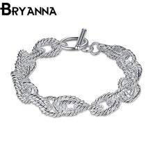 Bryanna New Fashion Top Quality Bracelet for Women Silver Charm Rope Unisex Lovely Link Bracelets for Men Jewelry LKNSPCH318