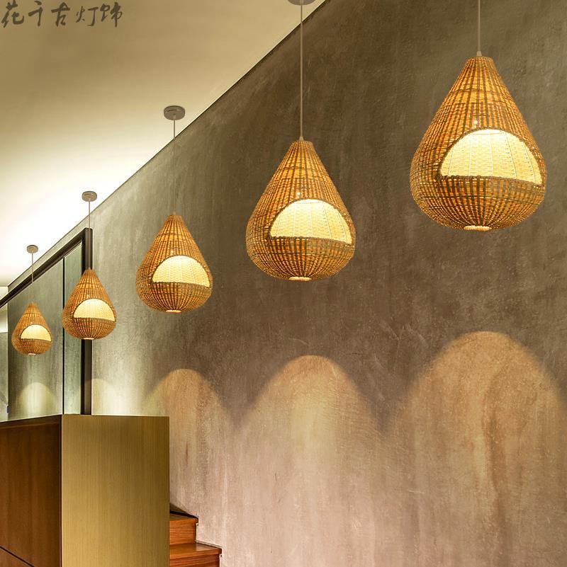 Sudostasiatischen Garten Bambus Pendelleuchten Restaurant Geschafte
