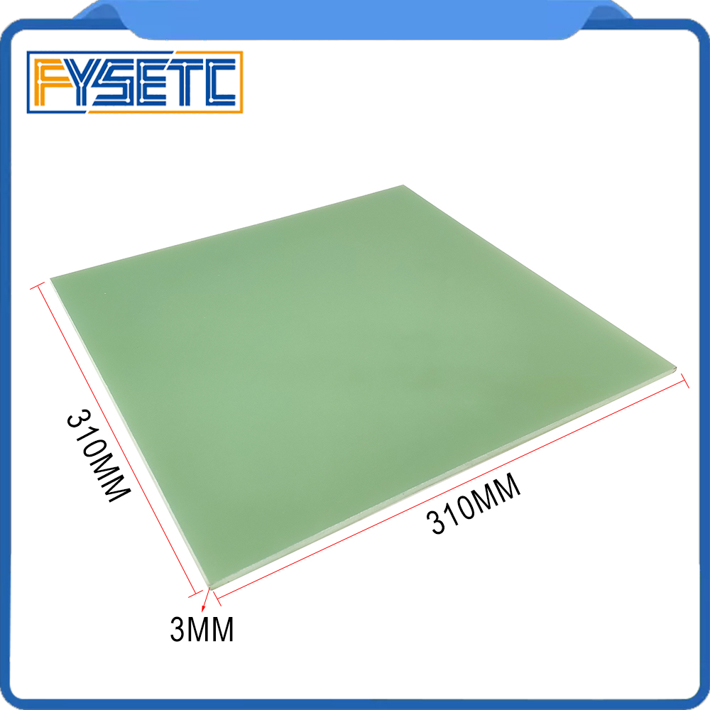 3D Printer Parts Hotbed Build Plate 310*310*3mm 3D Printer Polypropylene Build Plate Newest For Creality CR-10/CR-10S Printer