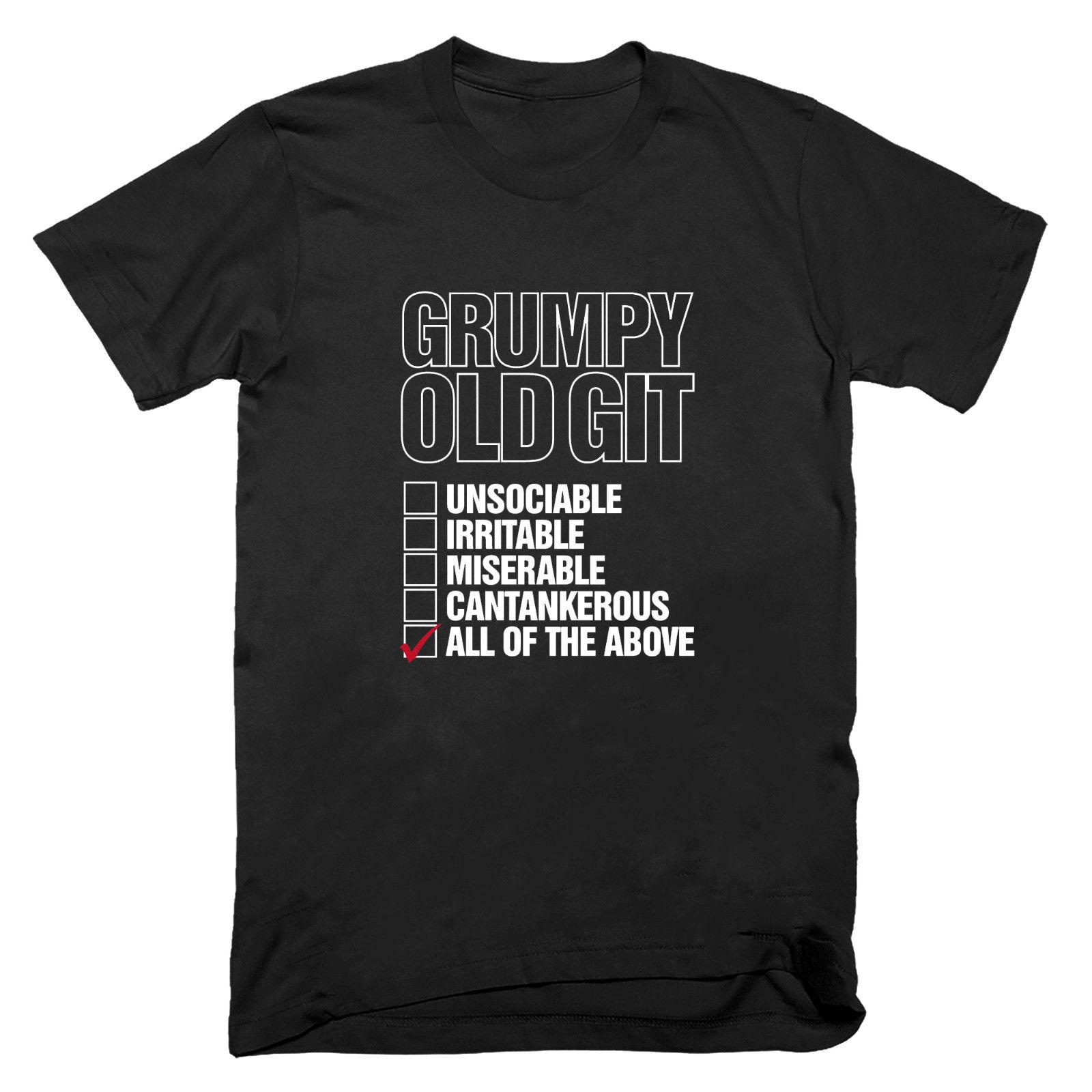 Grumpy Old Git Checklist T shirt Funny Gift Birthday Fathers Dad Grandad S - 5XL