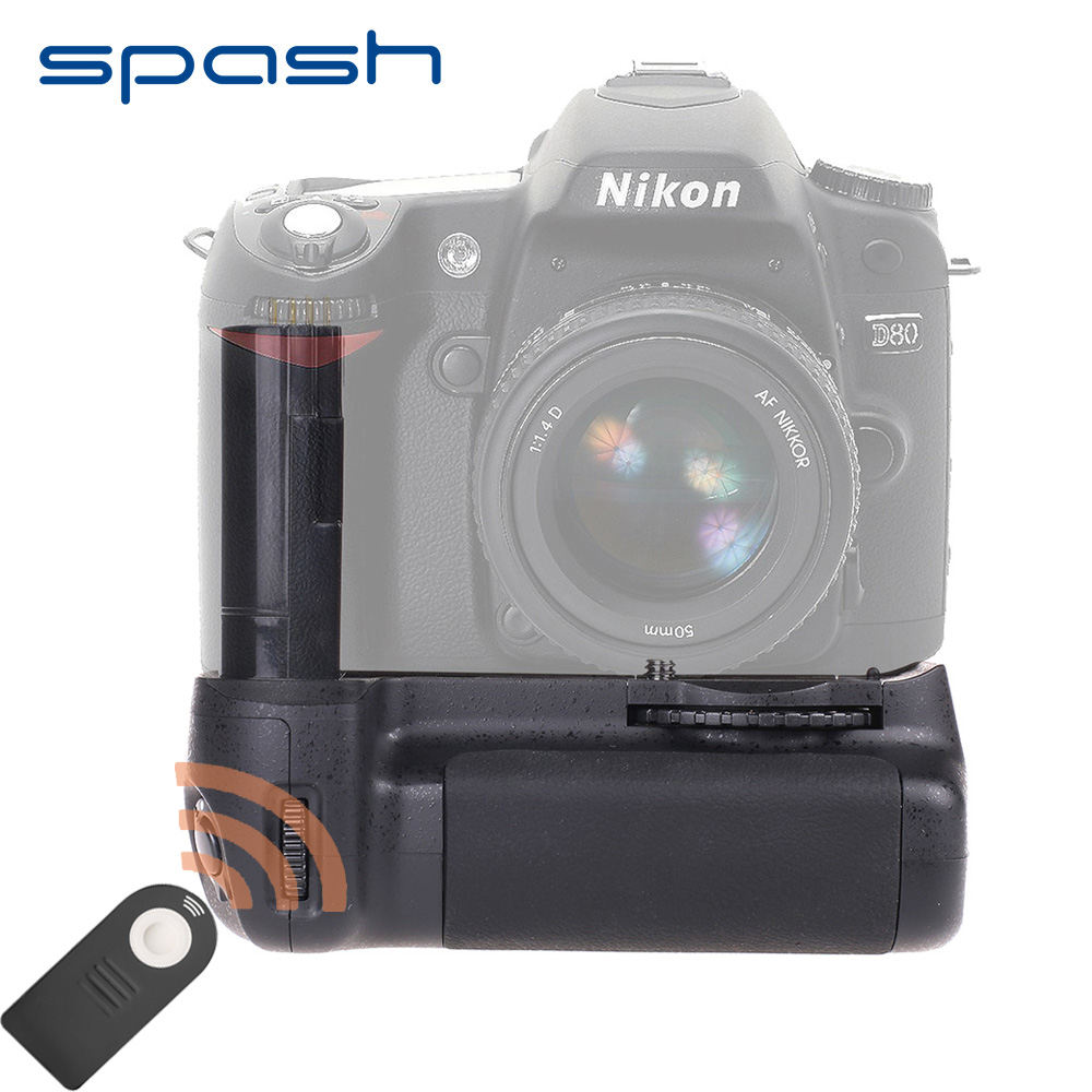 цена на spash Multi-power Vertical Battery Grip for Nikon D90 D80 DSLR Camera Replacement MB-D80 Work with EN-EL3e IR Remote Control