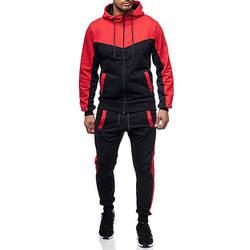 FeiTong спортивный костюм для мужчин комплект одежда для бега осень зима Packwork Толстовка Топ и штаны наборы ухода за кожей