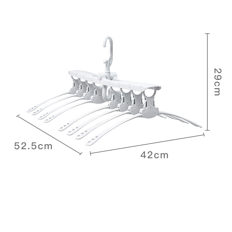 Image 4 - Multifunctional Magic Smart Hanger Storage Foldable Artifact Clothes Rack Household Drying Rack Clothing Multi layer Folding-in Drying Racks & Nets from Home & Garden