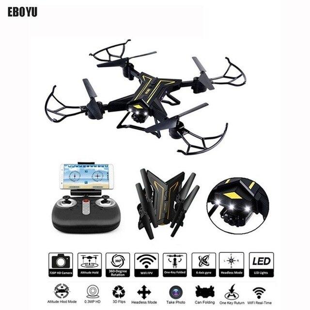 EBOYU KY601 2.4Ghz Foldable Drone RC Selfie Drone w/ Wifi