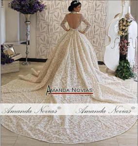 Image 3 - Amanda Novias brand trouwjurk lange mouwen bruid jurk 2019