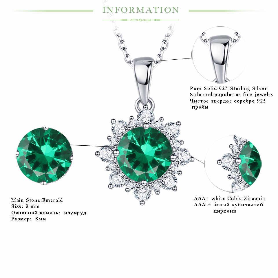 Kuololit 高級エメラルド宝石用原石のペンダントネックレス女性 925 スターリングシルバージュエリーファッションガールフレンドのためのギフト