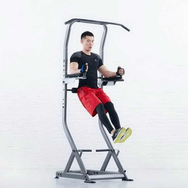 Horizontal bar pull up fitness trainer exercise equipment for home