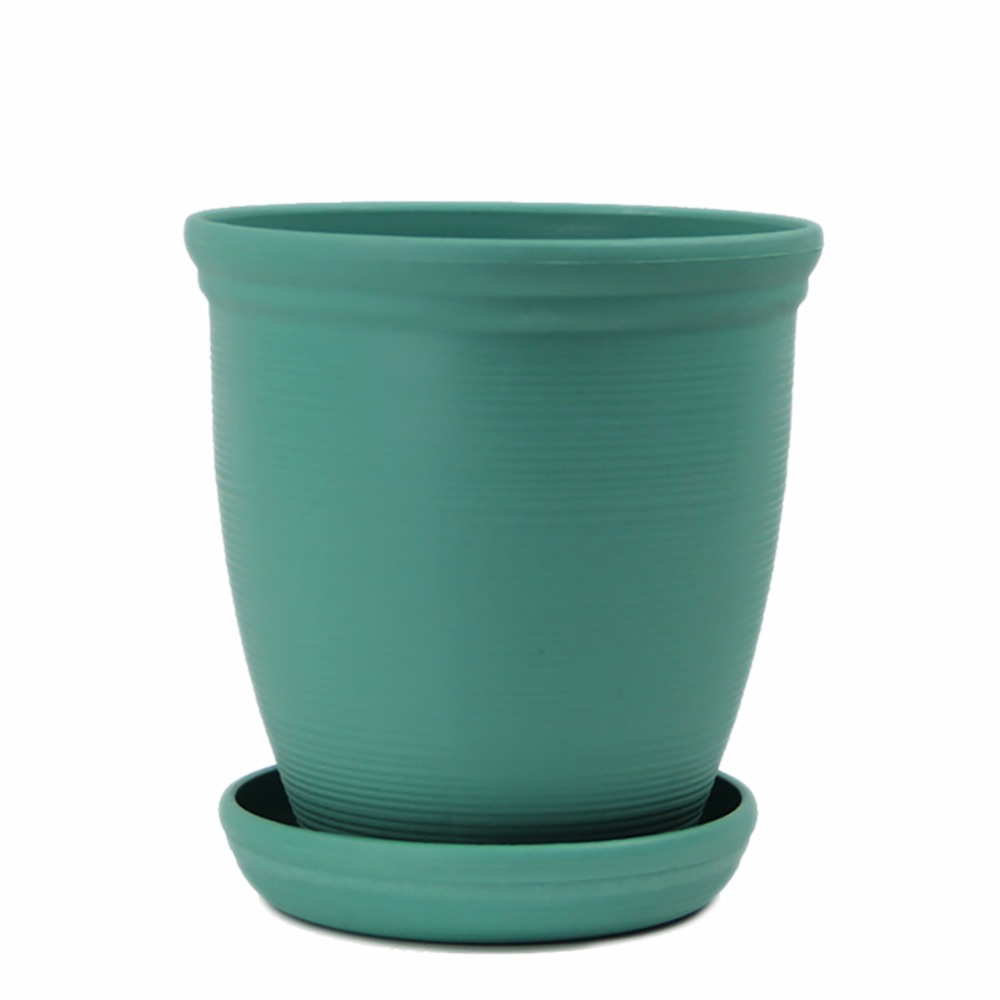 Where To Buy Ceramic Planters Part - 50: Large Environmental Platics Ceramic Roman Style Planter Resin HIGH Flower  Pot With Saucer(China)