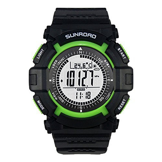 все цены на SUNROAD FR822A 3ATM Waterproof Altimeter Barometer Compass Chronometer Pedometer Outdoor Sports Multifunctional Watch онлайн