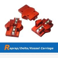 3pcs Reprap Delta Kossel Slide Tackle Effector, 3D Printer Parts Carriage for Closed Loop Belt