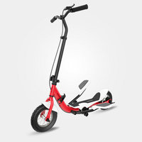 TARCLE 10 Inch Air Wheel Pedal Fold Scooter Fitness Stepper Carbon Scooter