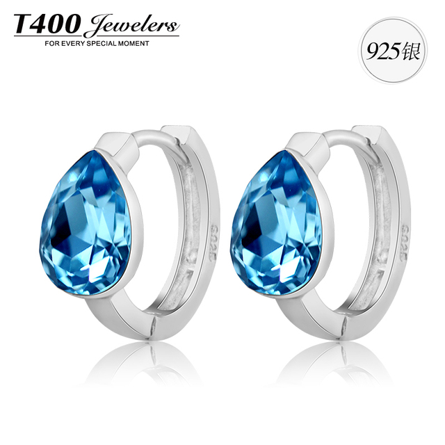 Hot Channel earringsT400 made with swarovski elements crystal,925 sterling silver,Cycle  earrings,For women, #2357,free shipping