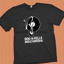 d30b6154 Roc A Fella Record Black t shirt S - 3XL Jay Z Pharrel RnB Hip Hop