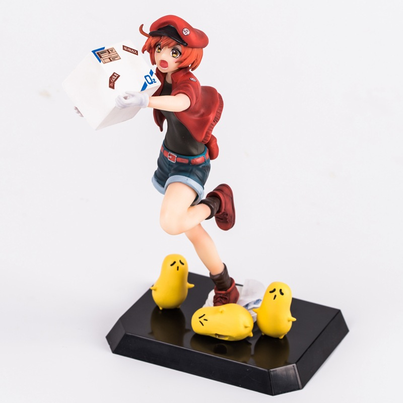 New Comic Anime Statue Shimizu Akane Working Cells at Work Red Blood Cell 18cm Figure Figurine Toys
