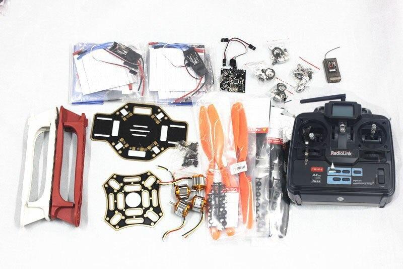 F02192-F hj 450 multicopter 450f fibra de náilon airframe + kk xcopter v2.9 placa 1000kv motor 30a esc 1045 hélice tx & rx