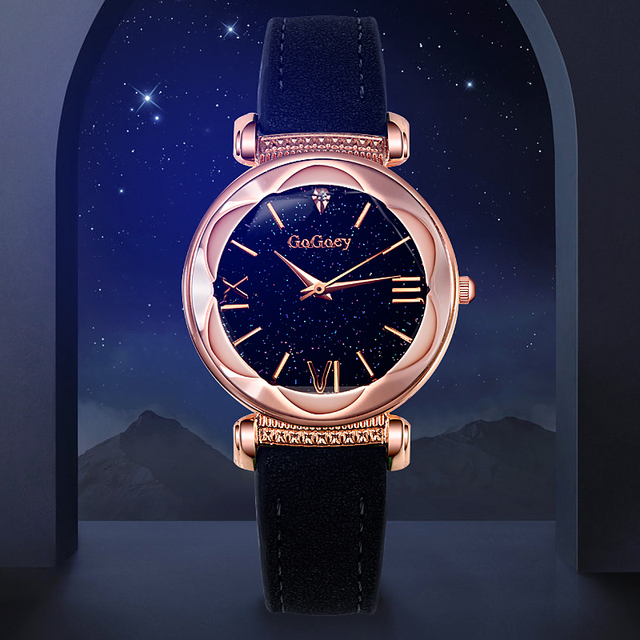 2018 New Fashion Gogoey Brand Leather Watches Women ladies dress Personality rom