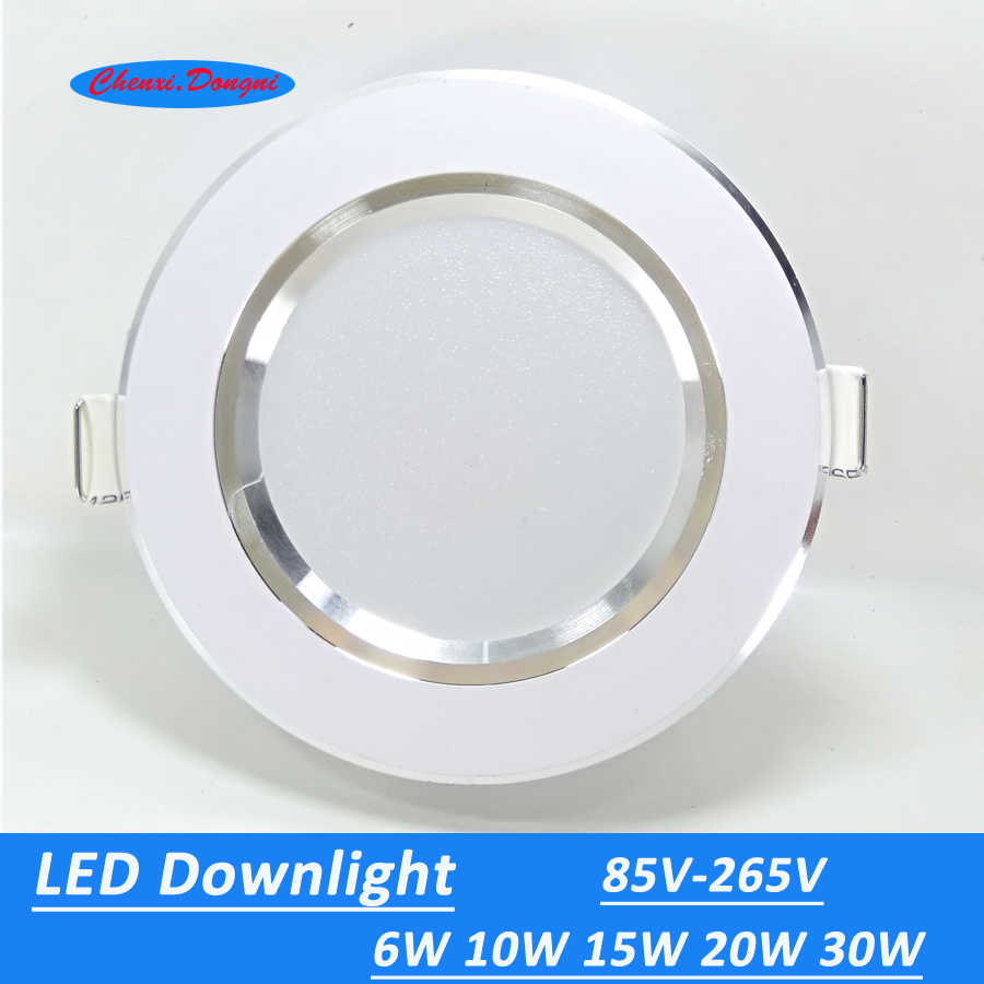 4pcs/lot Led Downlights  6W 10W 15W  220V LED Ceiling Downlight 2835 Lamps Led Ceiling Lamp Home Indoor Lighting Free shipping