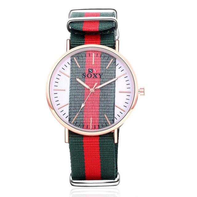 2018 SOXY Women quartz watch brife fashion fabric transparent relojes dress watc