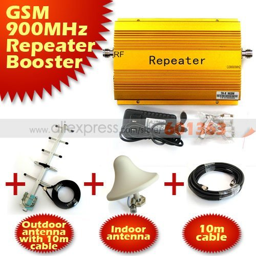 1PCS With cable+antenna 2000square meters GSM980 900MHZ Mobile Phone Signal Amplifier RF Signal Repeater Signal booster
