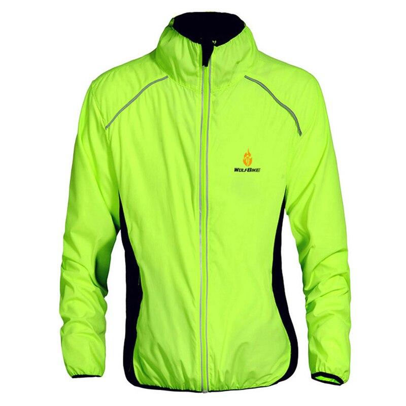 WOSAWE Windproof Cycling Jackets Men Riding Waterproof Cycle Clothing Bike Long Sleeve Jerseys