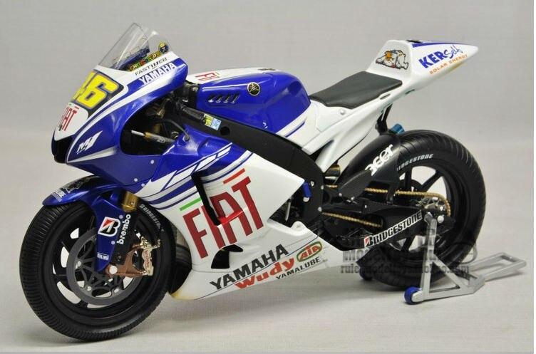 1:12 Minichamps Motorcycle Diecast Model Yamaha YZR M1 MotoGP 2008 motorcycle model-in Diecasts ...