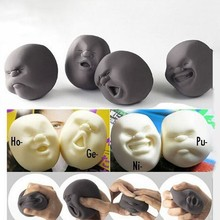 1PC Funny Novelty Gift Japanese Vent Human Face Ball Anti Stress Baby adult Toy Geek Gadget Vent Toy Relax Doll Board Game