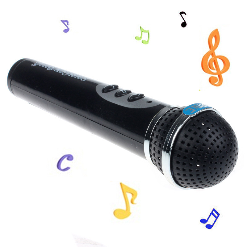 Hot Sale Girls Boys Microphone Black Mic Karaoke Singing Kid Funny Gift Music Toy Toy Musical Instrument #N25