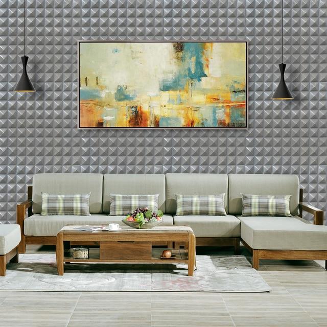yazi 4PCS Grey 3D Wall Panels DIY Self adhesive PE Foam Wall Sticker ...