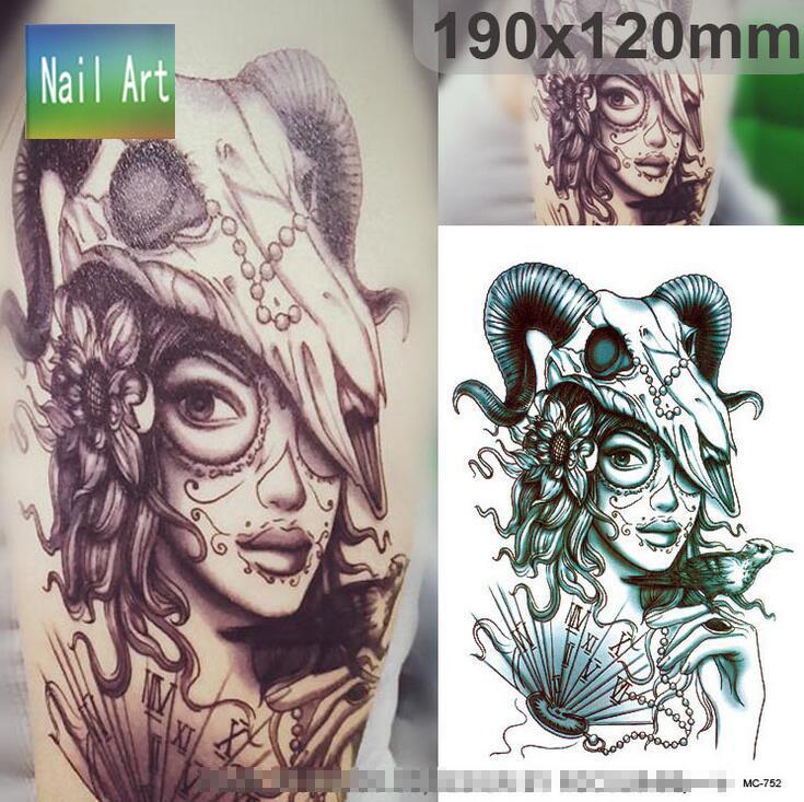 Shnapign Demônio Dragão Tatuagem Temporária Body Art Tattoo Flash Adesivos 21 15 Cm Decoração Da