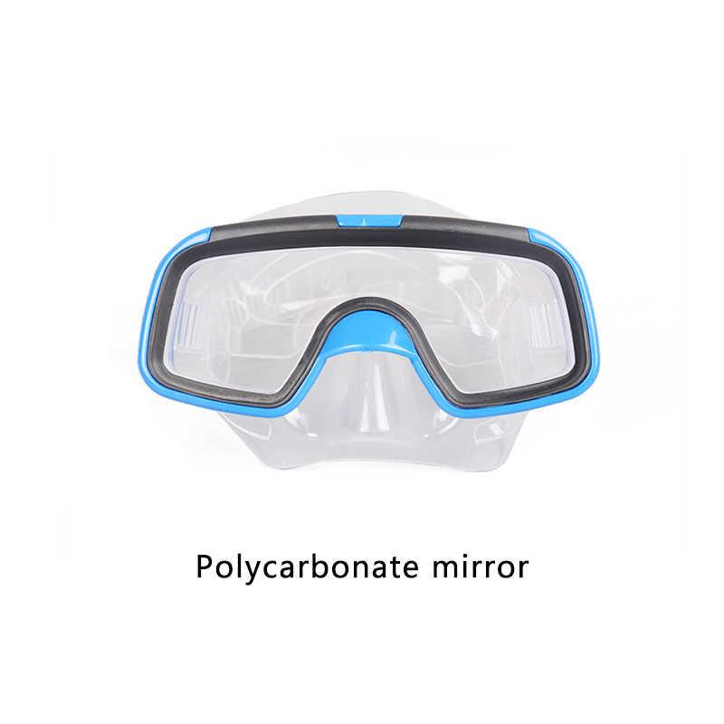 آمن للأطفال قناع الغطس Spearfishing تحت Waer جودة مكافحة الضباب نظارات الوقاية للسباحة أقنعة غص الزعانف عدة للأطفال بنين بنات