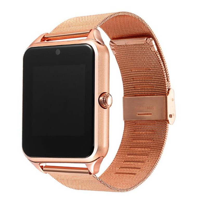 Z60 Smart Watch Metalic Wrist Strap Bluetooth Smartwatch Support Camera, and Micro Sim TF for Android Apple Phones Head Phones & Wearable Mobile Phones cb5feb1b7314637725a2e7: Black|Gold|Gold|Silver