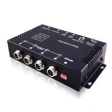 Coche de La Cámara de Vídeo Quad Cuadro de División de Control Con Interruptor de Espejo Para Cada Cámara para delantero/trasero/lateral de la cámara NTSC/PAL compatible)