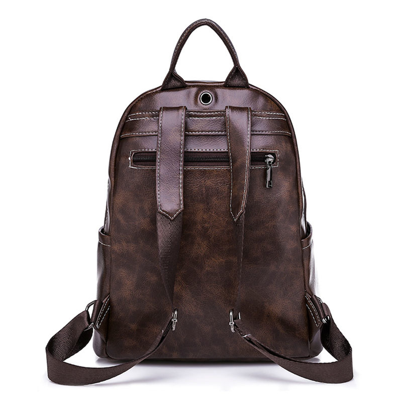 Casual Large Capacity Vintage Shoulder Bags Women Backpack Leather Daypack Fashion Backpacks Female Mochila Feminine in Backpacks from Luggage Bags