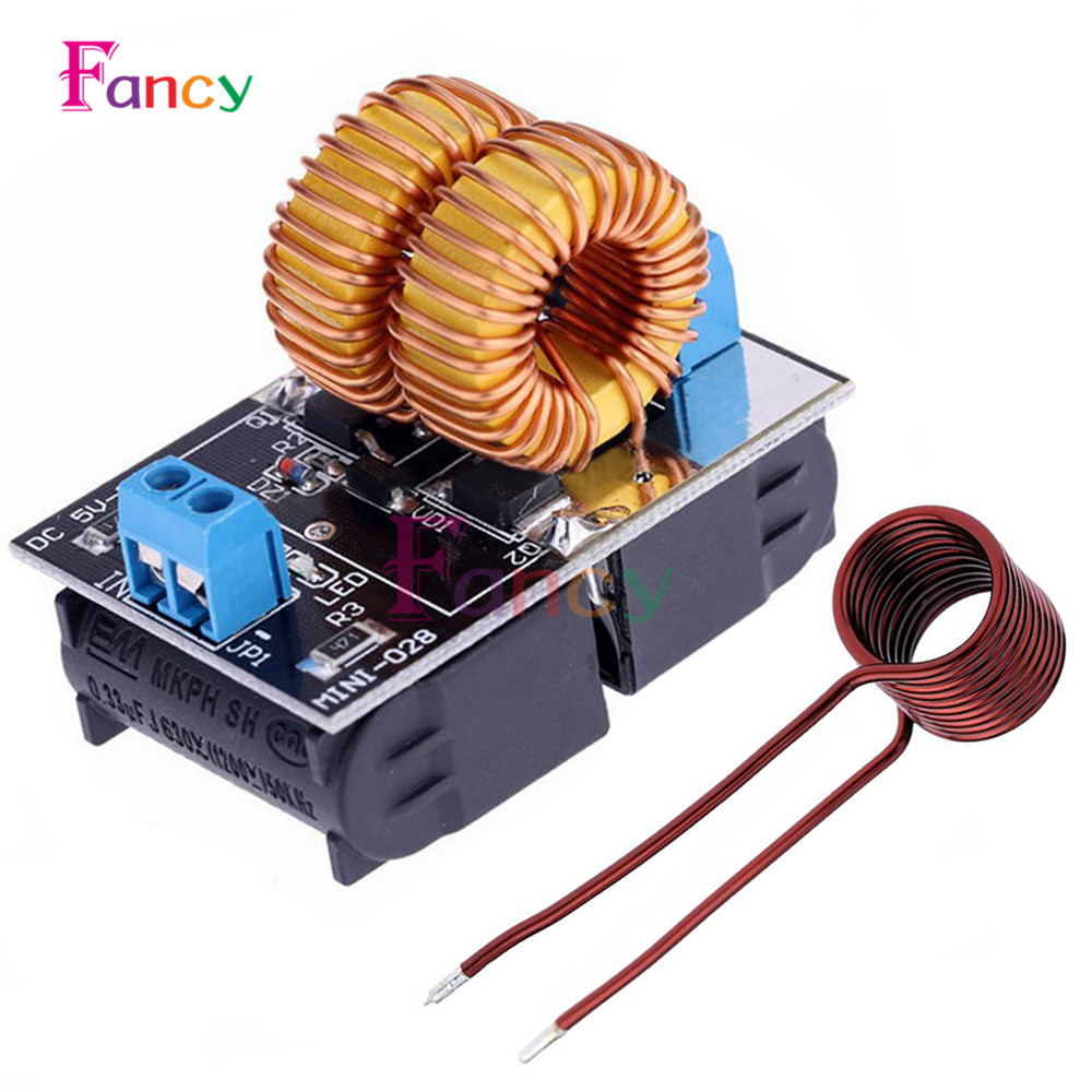 Mini DC 5-15V 150W ZVS Induction Heating Board High Voltage Generator Heater With Coil for Tesla Jacobs ladder Driver цена