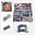 New style Vintage Knotted Bow Headband Baby Girl Headband Infant Headband Baby Turban  Cotton Jersey Blend Knit Headband