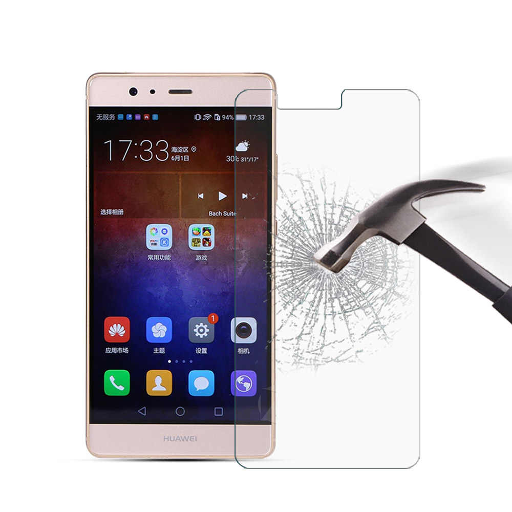 Tempered Glass For Huawei P9 Plus Phone Screen Protector Protective Film  For Huawei P9 Plus Phone Glass Film Cover +Clean Kits