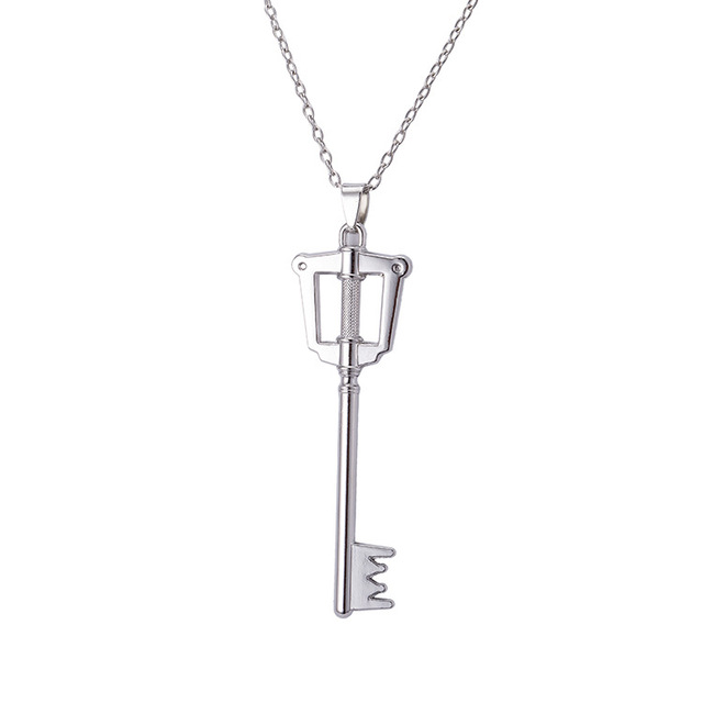 Kingdom Hearts Keyblade Metal Necklace Game Jewelry Accessories Figure Cosplay Toy Gift Free Shipping