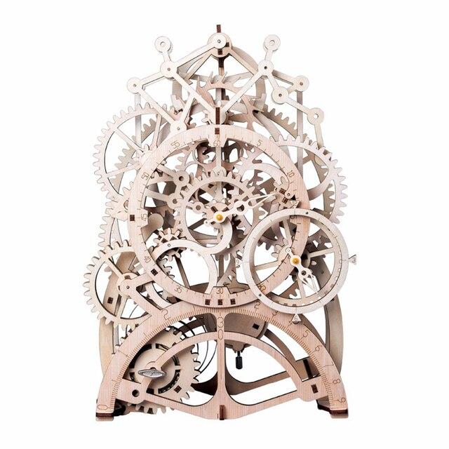 Vintage Home Decor Craft En Bois Pendule Horloge Modèle Kits Décoration 1